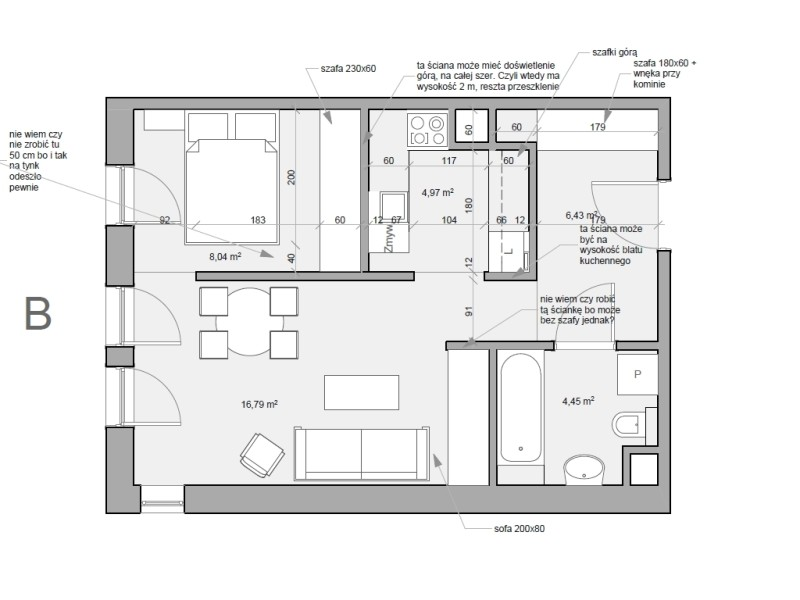 Mieszkanie - rzut deweloperski